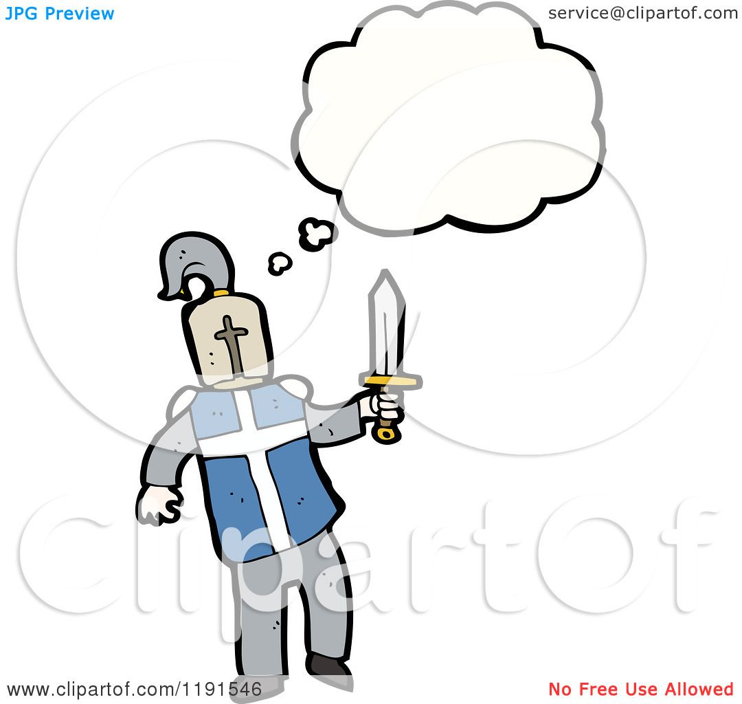 1080x1024 Cartoon Of A Medieval Knight Thinking