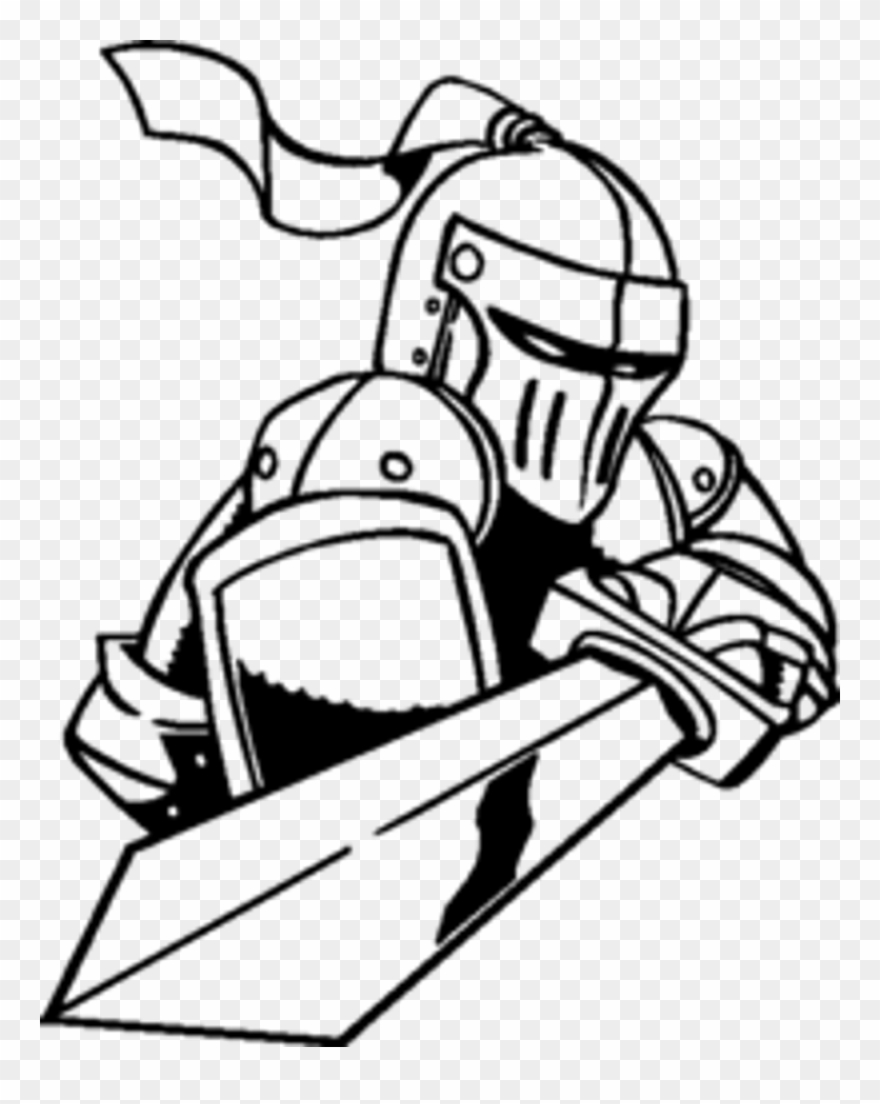 880x1104 Knight With A Sword Drawing Clipart