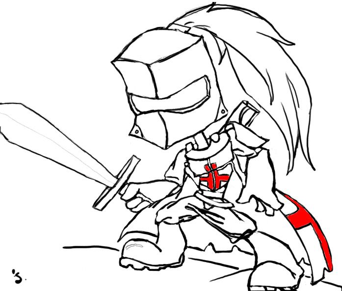 697x593 Cartoon Knight Knight And Armor Cartoon Knight, Sketches, Knight