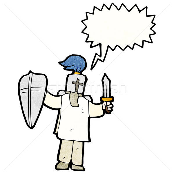 600x600 Cartoon Medieval Knight Vector Illustration Lineartestpilot