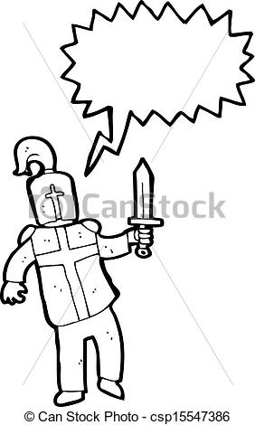 282x470 Cartoon Knight Vector