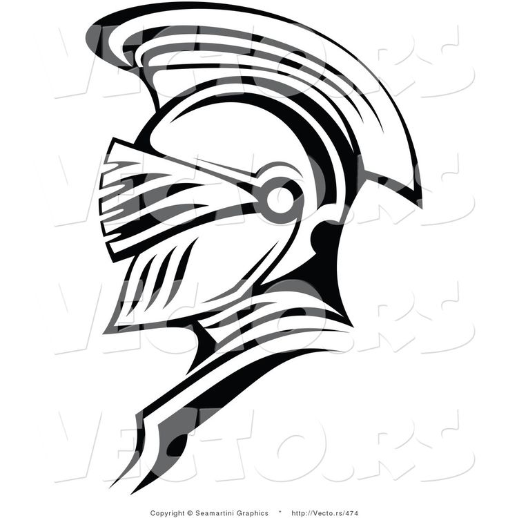 Knight Helmet Drawing