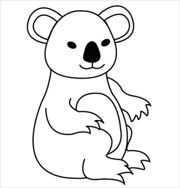 585x610 koala outline baby koala bear black bear outline koala outline