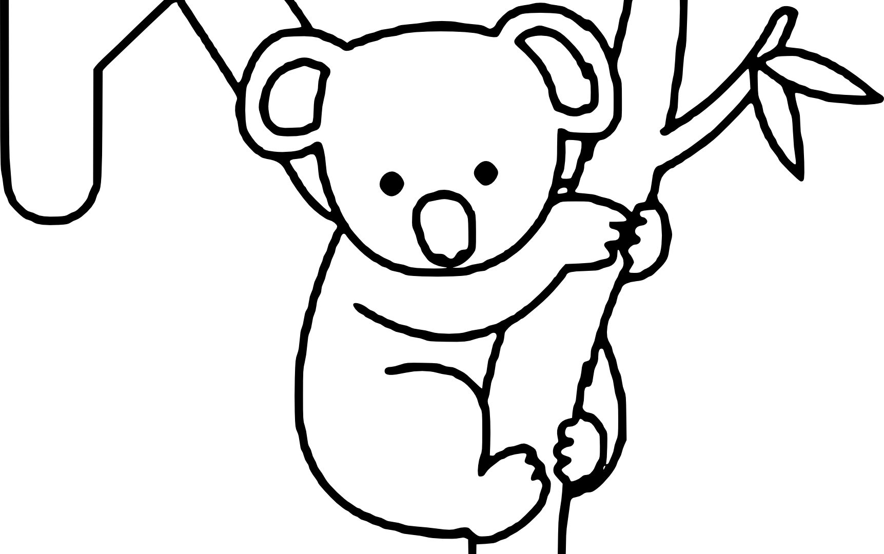 Koala Line Drawing Free Download On Clipartmag