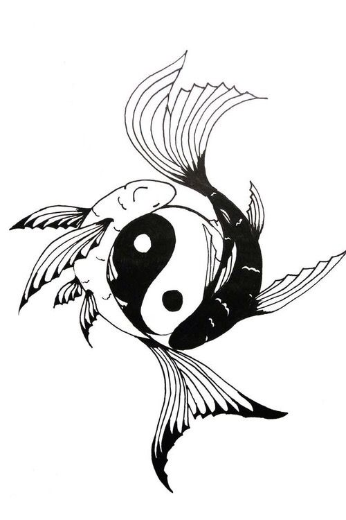 500x750 yin yang yin yangs yin yang tattoos, koi tattoo design, koi