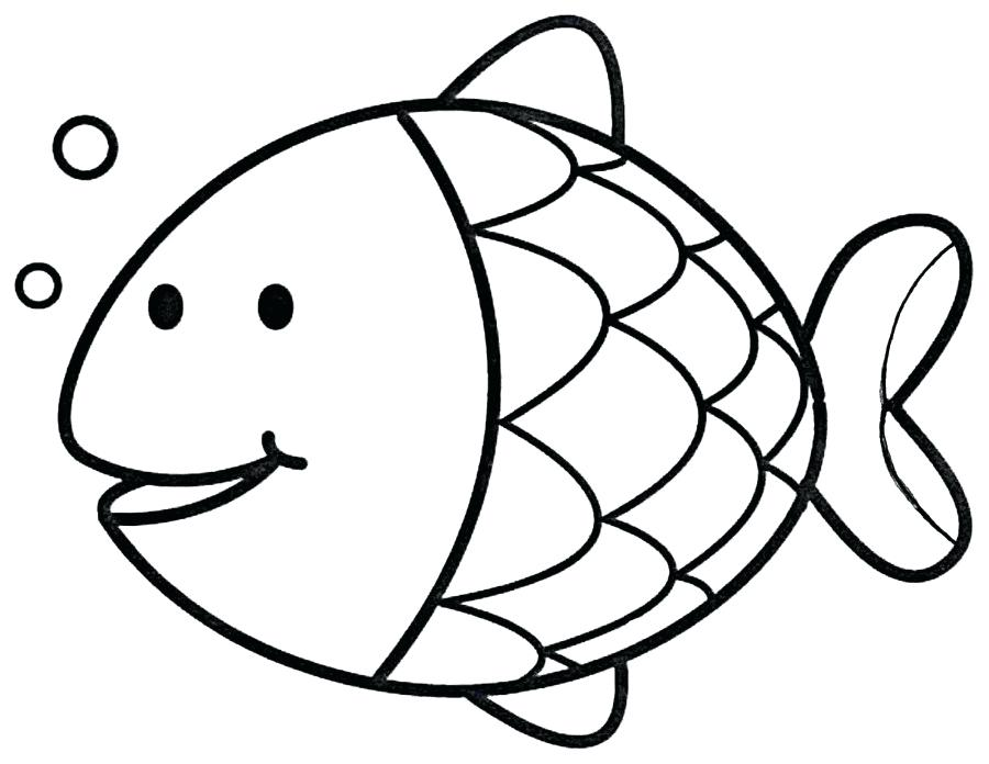 900x696 fish outline drawing tutorials draw cartoon fish tropical fish
