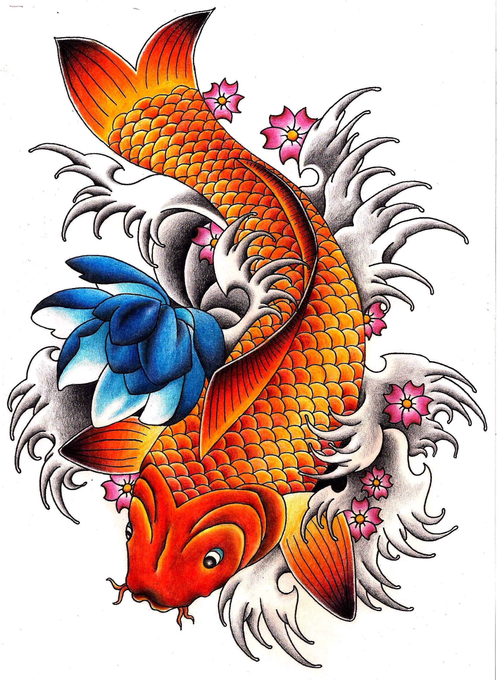 Koi Fish Tattoo Drawing Free Download Best Koi Fish Tattoo Drawing