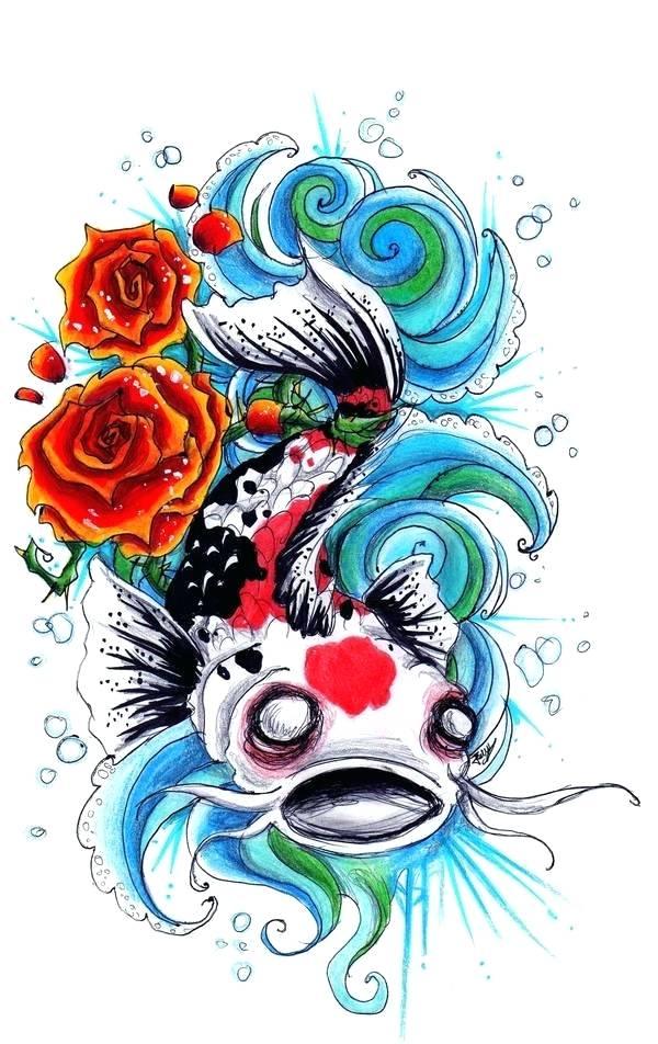 600x952 koi design fish design set design koi tattoo design leg