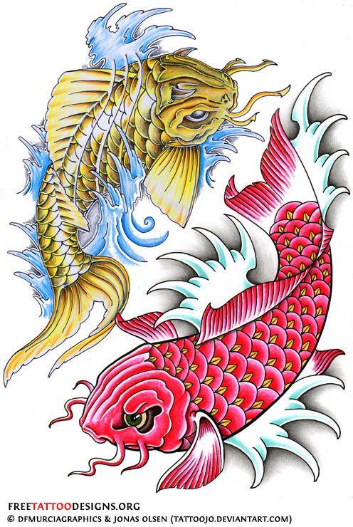 Koi Fish Tattoo Drawing Design Free Download Best Koi Fish Tattoo