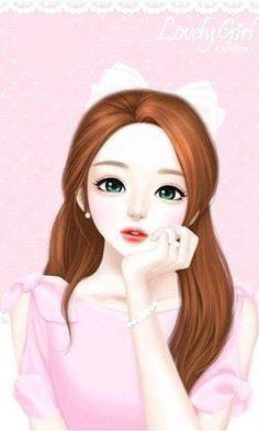 Korean Cartoon Girl Drawing Free Download On Clipartmag