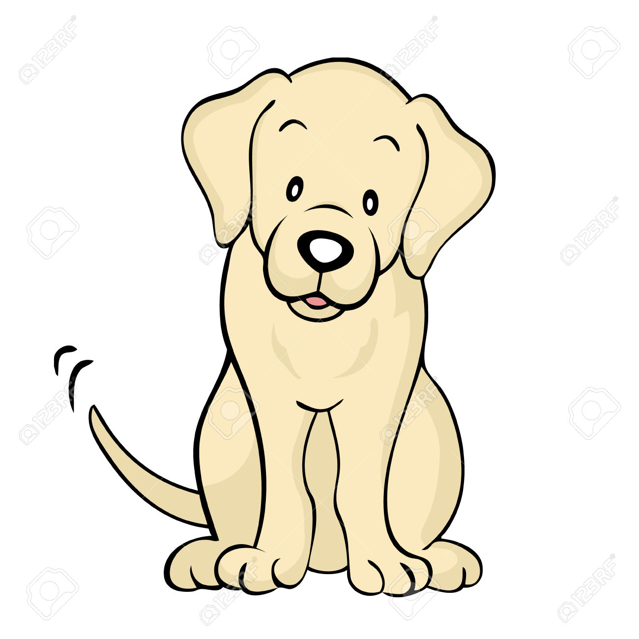 1300x1300 Labrador Puppy Clipart