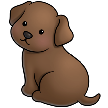 220x220 Choc Lab Fluff Favourites Cute Animal Clipart, Animal Drawings