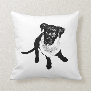 307x307 Black Lab Puppies Pillows