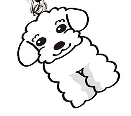 450x399 oha pet poodle charm keyring labradoodle dog pendant designer dog