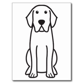 324x324 labrador retriever dog cartoon post cards labrador retriever