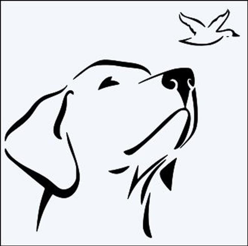 794x789 labrador dog head durable mylar stencil x x etsy