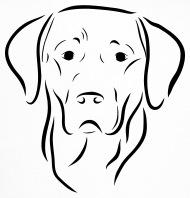 190x198 labrador dog head drawing dog dog love art trucker cap spreadshirt