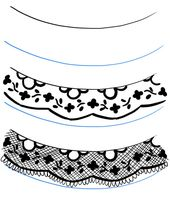 170x201 how to draw lace tutorial art lace drawing, lace painting