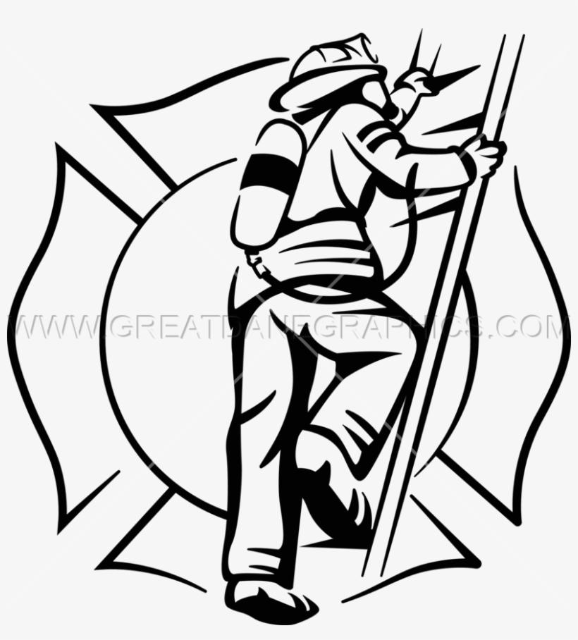 820x908 Firefighter Clipart Ladder