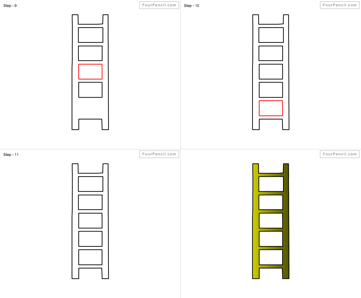1250x1032 How To Draw Ladder For Kids Step
