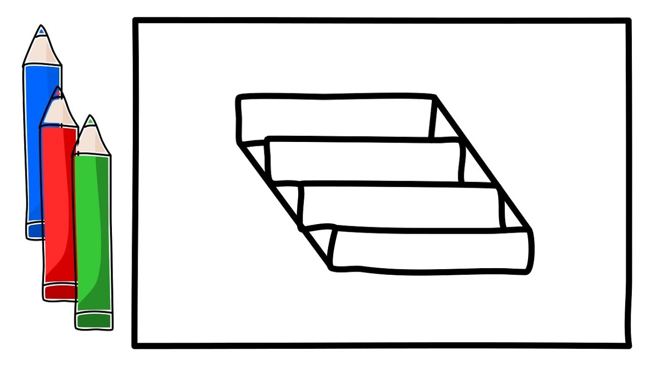 1280x720 how to draw a ladder for kids how to color a ladder for children