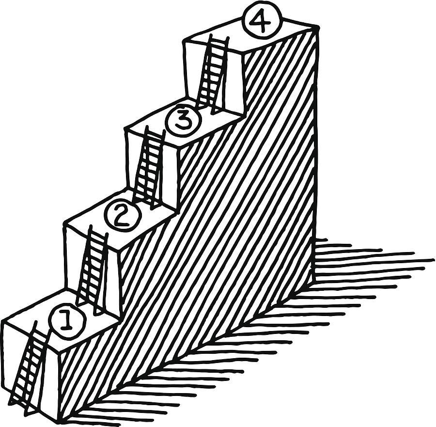 900x881 Steps Ladder Progress Concept Drawing