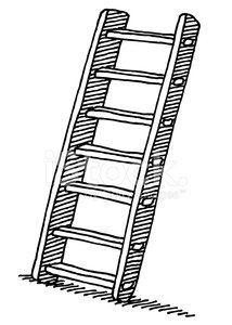 214x300 Wooden Ladder Drawing Stock Vectors