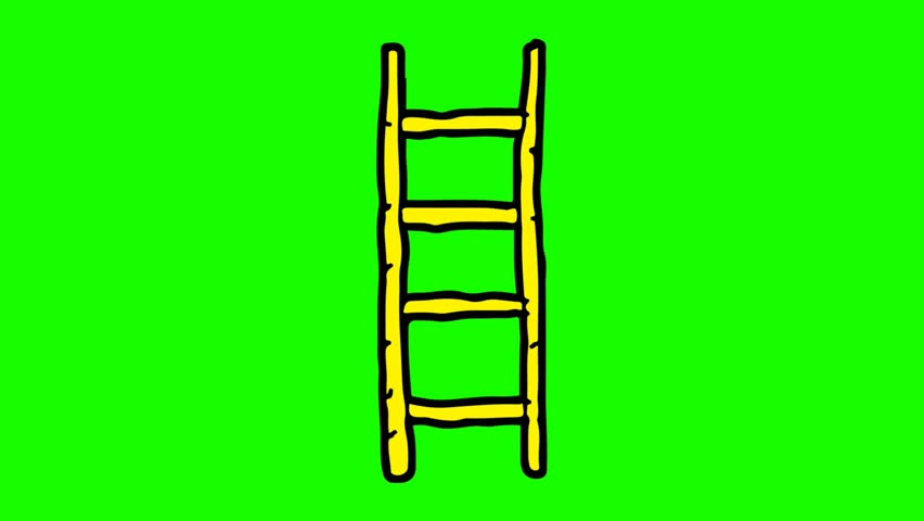 852x480 Kids Drawing Green Screen With Theme Of Bamboo Ladder