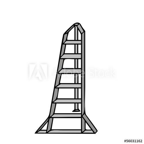 500x500 Vector Drawing Of A Ladder