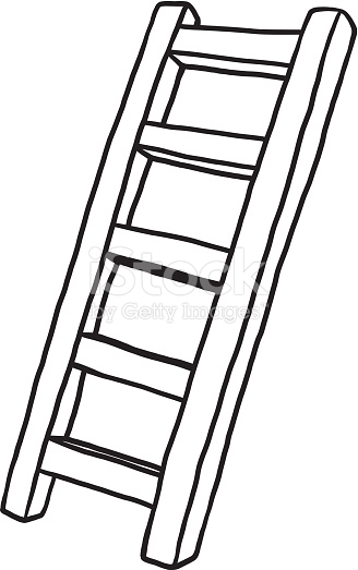 328x523 Black And White Ladder Clipart