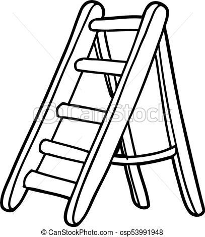 407x470 Cartoon Ladder
