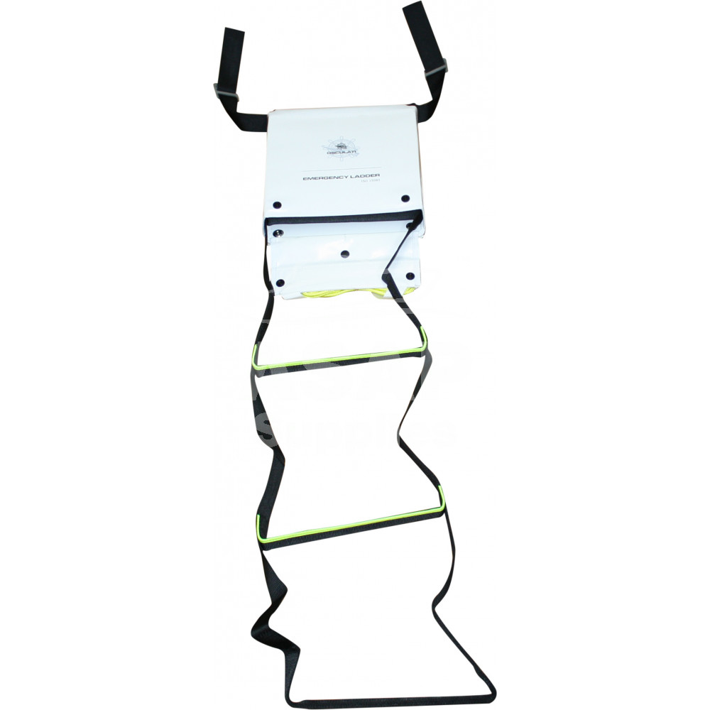 1000x1000 boat emergency ladder with fluorescent stripes, iso