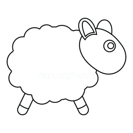 450x450 lamb outline sheep toy icon outline style stock vector lamb