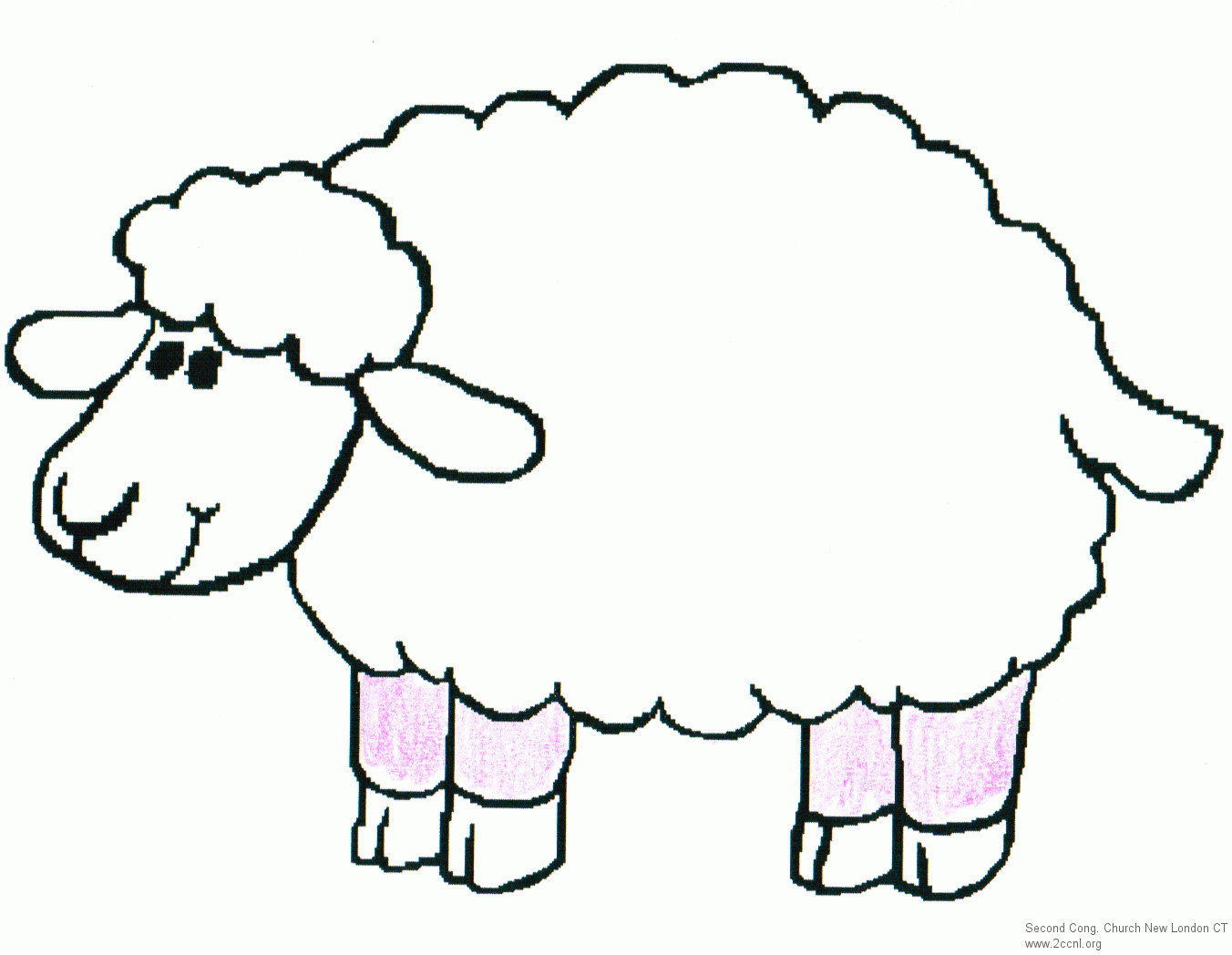 Lamb Outline Drawing