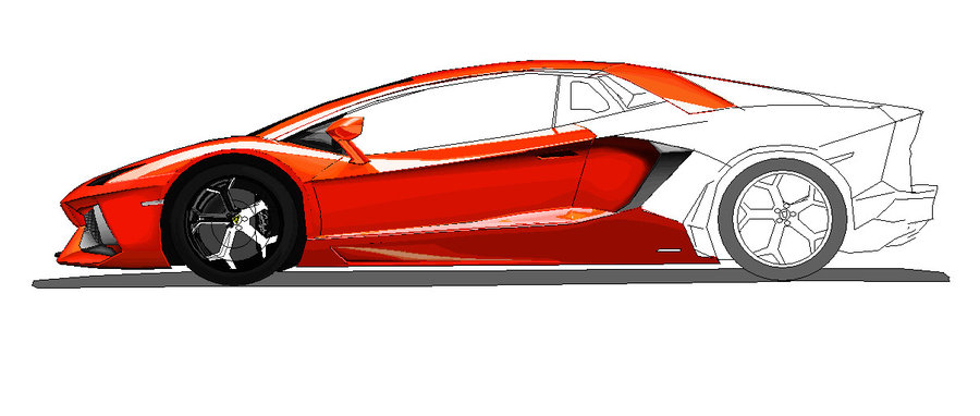 Lambo Drawing Free Download On Clipartmag
