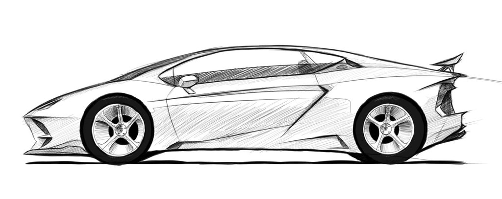Lamborghini Aventador Side View by DutaAV on DeviantArt  Lamborghini Aventador Drawing Side View