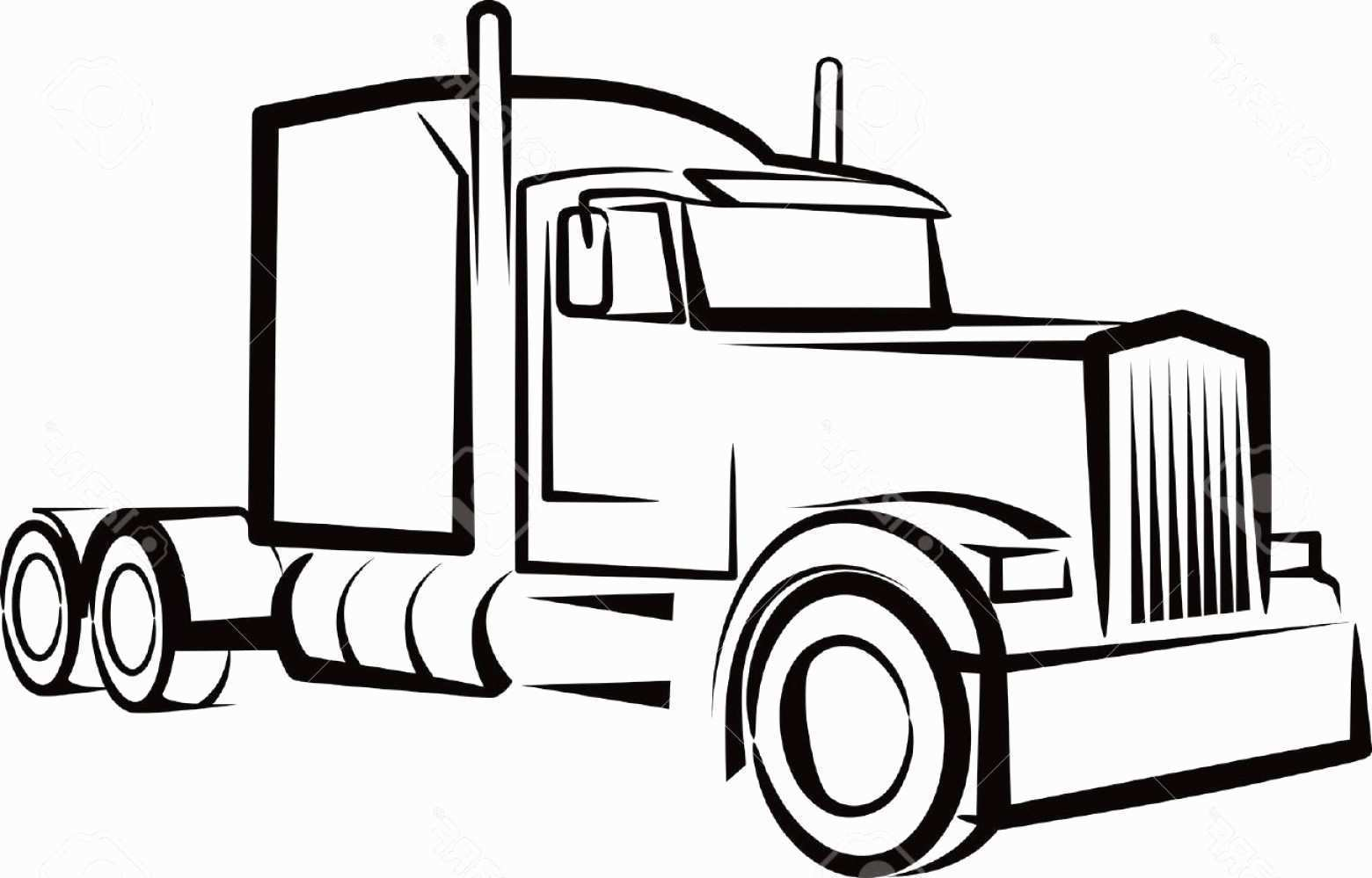 1560x999 semi truck drawing prettier semi truck outline drawing simple