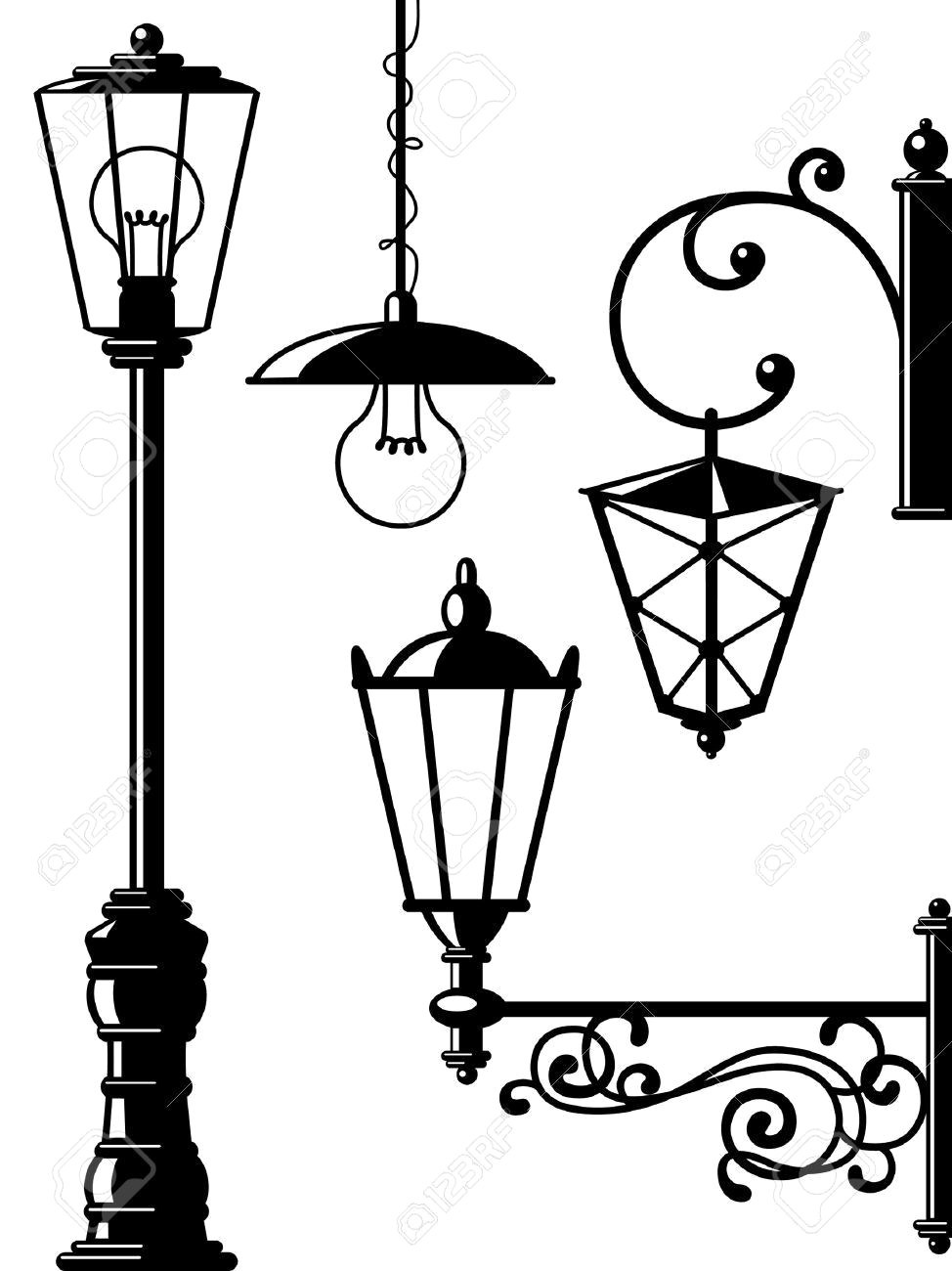 974x1300 Lamp Post Drawing House With Lamppost Kiddicolour