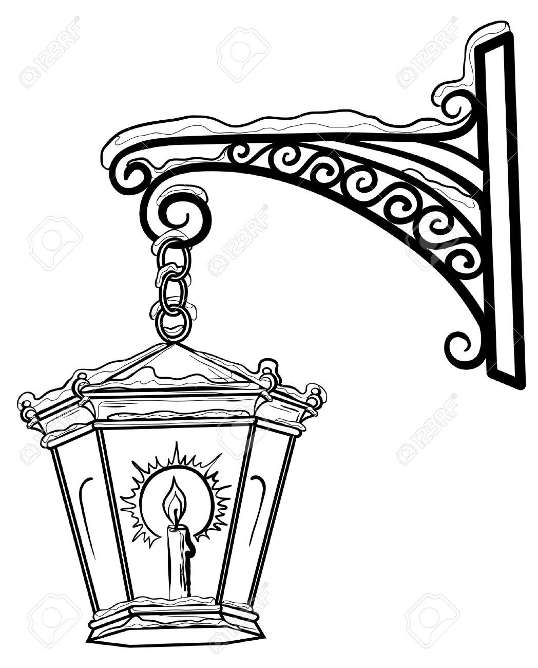 1048x1300 Lamp Post Outline