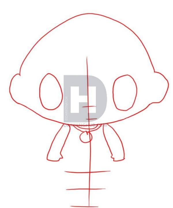 600x720 How To Draw Kai Lan, Step