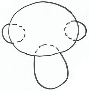 300x307 How To Draw Hoho Monkey From Kai Lan Step
