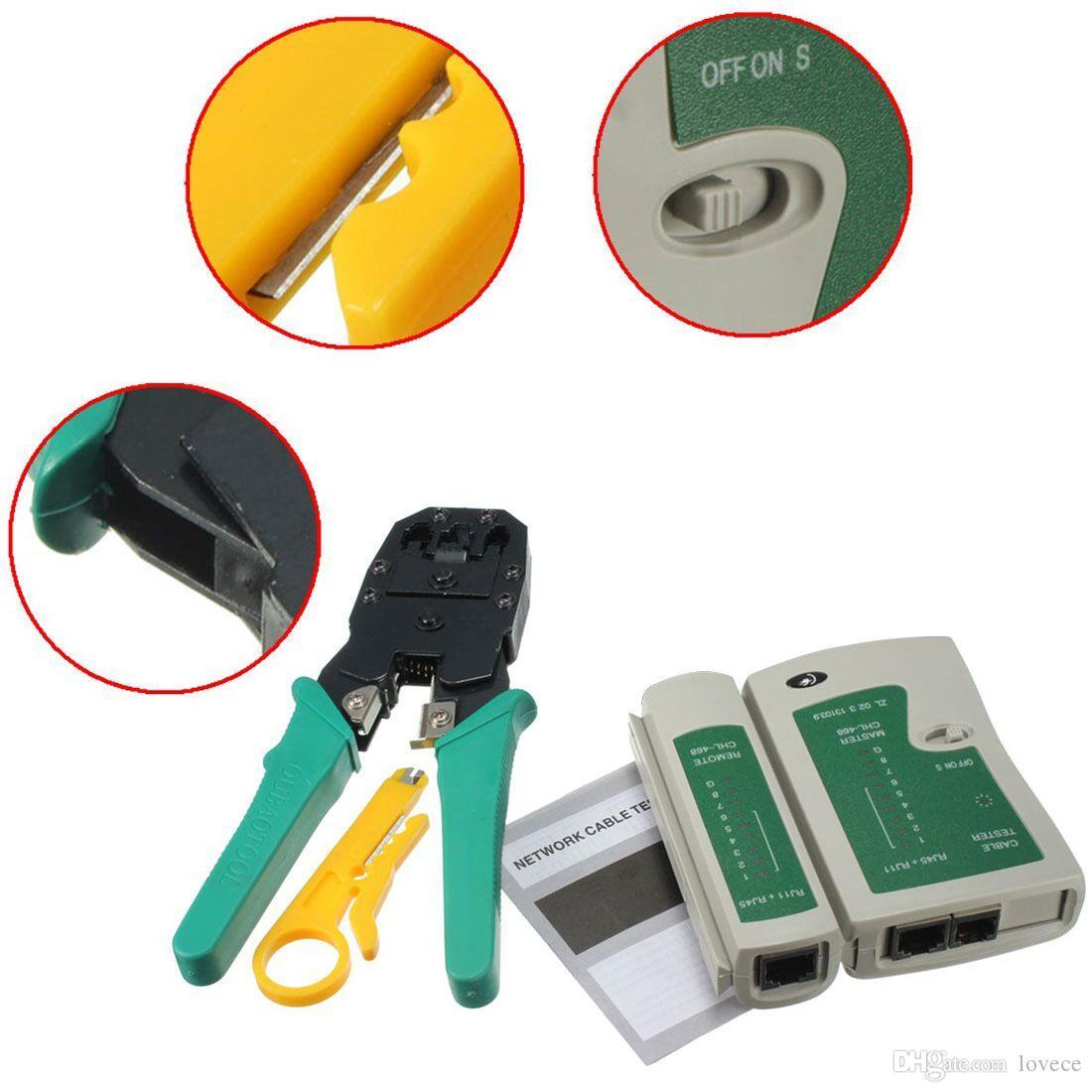 1100x1100 Lan Network Tool Kit Cable Tester Crimp