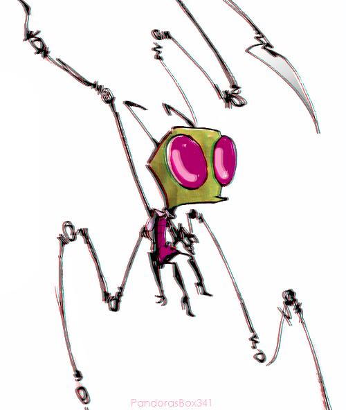 500x592 Don't Stop Run Lan Nickelodeon Invader Zim Characters