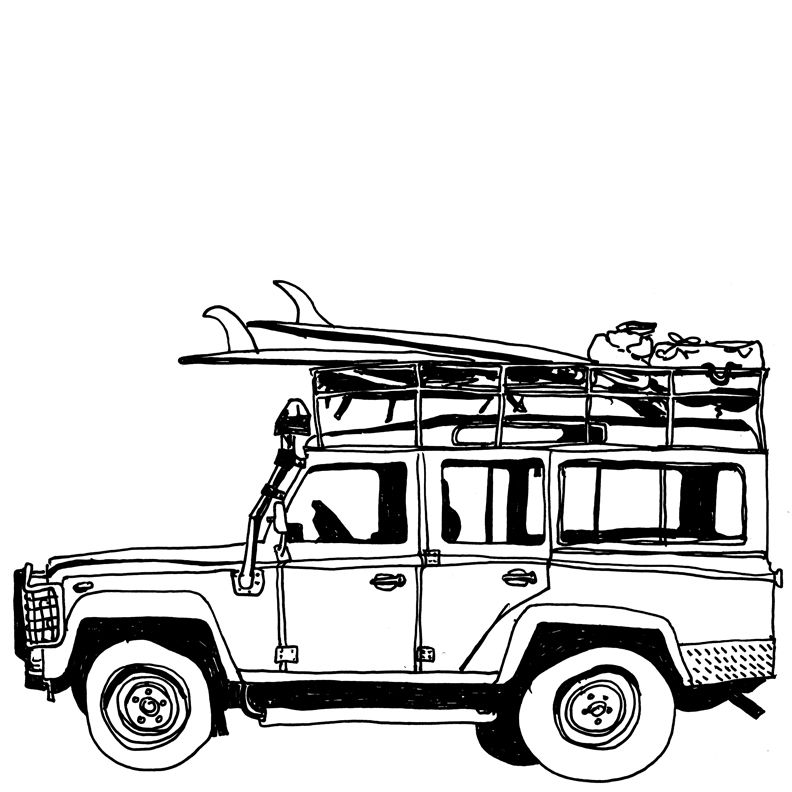 792x792 surf truck land rovers trucks, land rover defender, cars