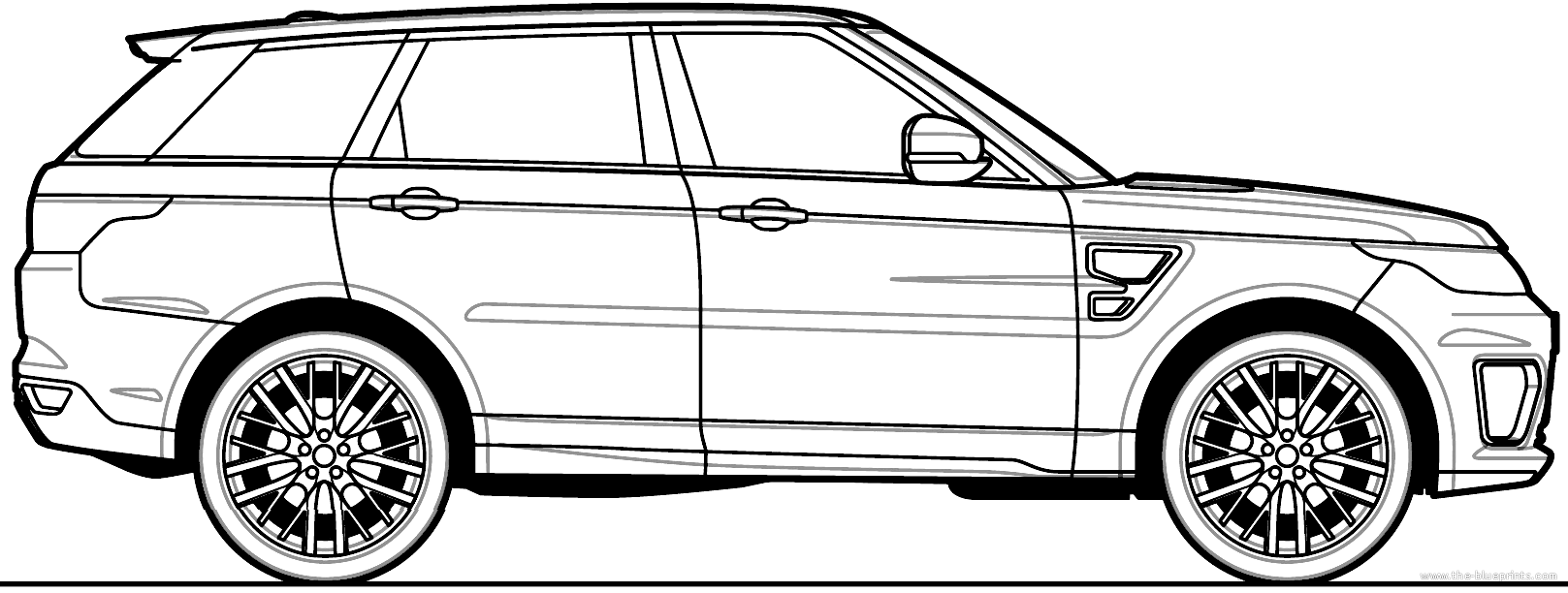 This is a picture of Decisive Range Rover Drawing