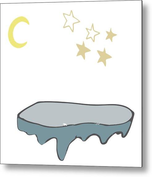 493x572 Iceberg And Stars Moon Landscape Vector Illustration Drawing
