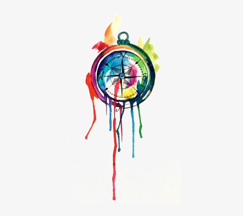 820x728 Drawing Clock Watercolor