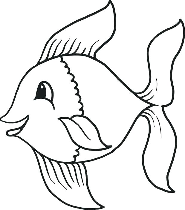 619x700 Drawing Colors Fish For Free Download