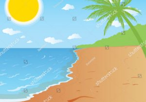 300x210 Beautiful Beach Landscape Drawing How To Draw A Beach Pencil