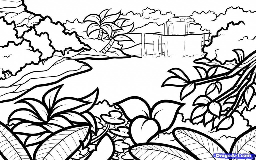 1024x640 How To Draw Landscapes With Pencil Step